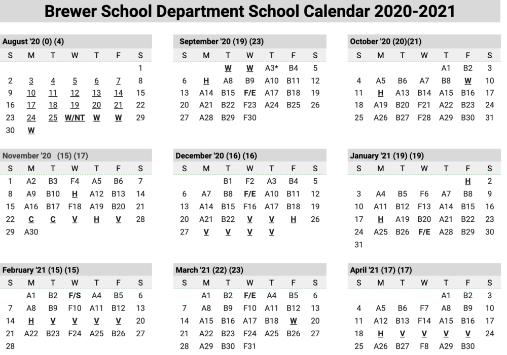 8.10.2020, A/B Calendar:  2nd Informational Letter of 2020-2021 School Year