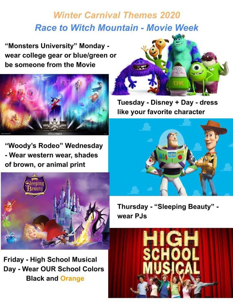 Winter Carnival Spirit Week