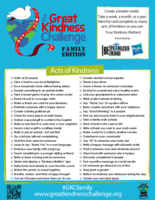 The Great Kindness Challenge at Home