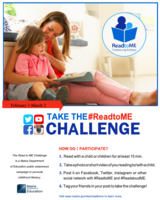 Take the #ReadtoME Challenge at home!