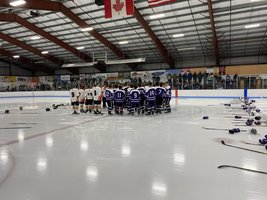 Hampden Ice Hockey Team Joins Brewer to Honor Parkhurst Family
